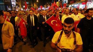 Kiliste Milli Birlik Yürüyüşüne binlerce kişi katıldı