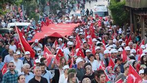 Ispartada Milli Birlik Yürüyüşü