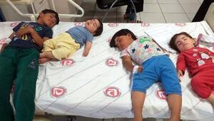 Zehirlenen Iraklı 4 kardeş, hastaneye kaldırıldı