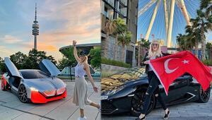Otomobil dünyasının ünlü fenomeni 'Supercar Blondie' görenleri şaşırtıyor
