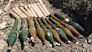 Herekol Dağında PKKnın cephaneliği bulundu