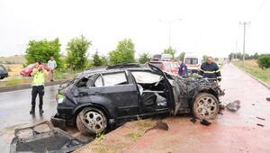 Nevşehirde otomobil takla attı: 3 yaralı