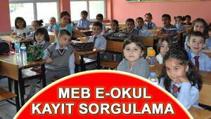 İlkokul kayıtları başladı mı MEB e-Okul kayıt sorgulama ekranı