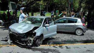 Şişlide otomobilin çarptığı kaldırımdaki kadını hayatta tutabilme seferberliği