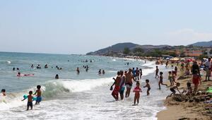 Tekirdağda mavi bayraklı plajlarda yoğunluk