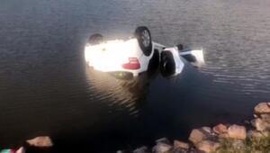 Ankarada otomobil gölete düştü: 1 ölü, 5 yaralı