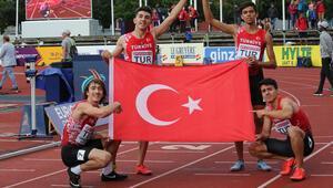 Genç atletler tarih yazdı Altın madalya rekorla geldi