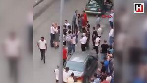 Trafikteki kavga cep telefonu kamerasında