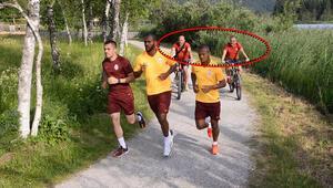 Galatasaray idmanında böyle görüntülendiler