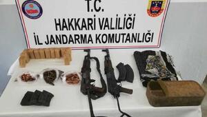 Şemdinli kırsalında PKKnın silah ve mühimmatı ele geçirildi
