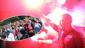 Trabzonsporlular akın etti Büyük coşku