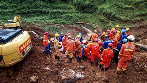 Çin'deki toprak kaymasında ölü sayısı artıyor