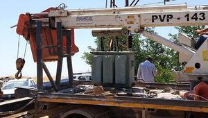 Siverekte kaçak mobil trafo ele geçirildi