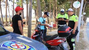 Yalova polisi ve zabıta ekiplerinden, motosiklet sürücülerine denetim
