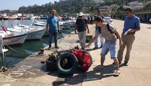 Zonguldakta denizden çıkarılan atıklar şaşırttı