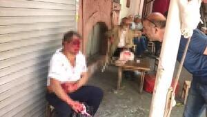 Beyoğlunda çocuğu taciz ettiği iddia edilen kişi önce darp edildi sonra bıçaklandı