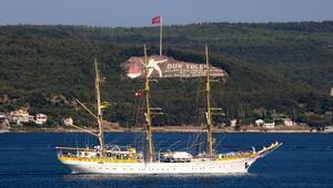 Rumen askeri okul gemisi, Çanakkale Boğazından geçti