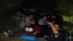 Çanakkalede 21 kaçak ve 4 organizatör, termal kameralı drone ile yakalandı