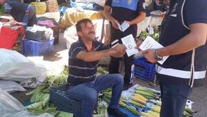 Polis sahte para konusunda esnafı uyardı