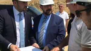 AK Parti İl Başkanı Bağatar, Yalova Devlet Hastanesinin şantiyesinde incelemeler yaptı
