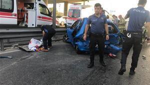 Küçükçekmece D-100 Karayolu'nda kaza: 3 yaralı