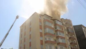 Niğde'de çatı yangını korkuttu