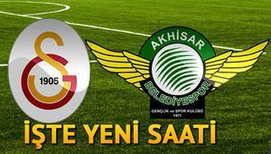 Galatasaray Akhisarspor maçı ne zaman saat kaçta hangi kanalda yayınlanacak