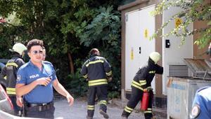Edirnede trafo yangını korkuttu