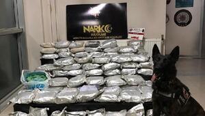 Atıp kaçtığı torbadan 108 kilo eroin çıktı