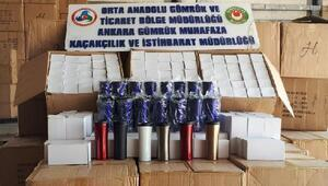 Çankırıda 33 bin 400 adet kaçak termos bardak ele geçirildi