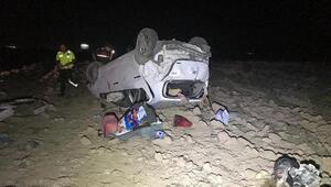 Otomobil takla attı: 5 yaralı