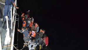 Edirnede lastik botta 36 kaçak göçmen yakalandı