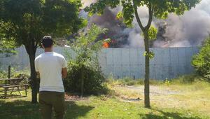 Gölcük'te hafriyat sahasında yangın