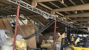 Çelik konstrüksiyon üzerine düşen işçi yaralandı