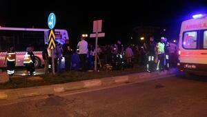 Motosikletten düşen Satılmış, halk otobüsünün altında kalarak öldü