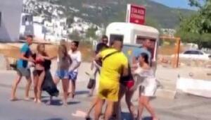 Bodrumda tatilci kadınlar kavga etti