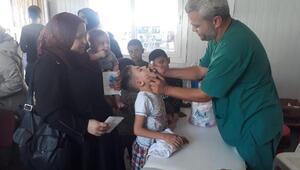 Suriyeye bayramlaşmaya giden 1601 çocuğun eksik aşısı tamamlandı