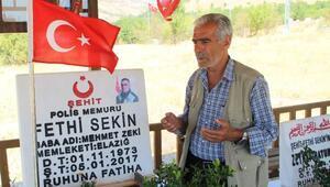 Şehit Fethi Sekinin kabrine bayram ziyareti