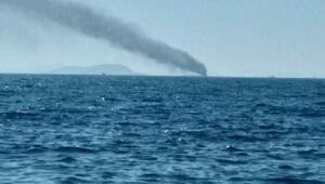 Bodrumda tekne yandı; 6 kişi kurtarıldı