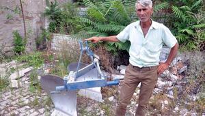 Çalınan tarım aletini 3 gün iz sürüp, buldu