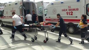 5inci kattan düşen Emin Yasid, yaralandı