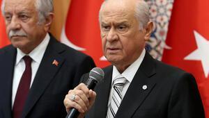 MHP lideri Bahçeli bayramlaşma töreninde konuştu
