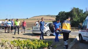 Tekirdağda kaza: 2si çocuk 3 yaralı