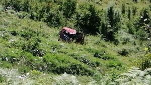 Zonguldak'ta otomobil şarampole devrildi: 5 yaralı