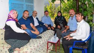 Vali Demirtaş'tan şehit ailelerine bayram ziyareti