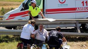 Takla atan cipte aynı aileden 4 kişi yaralandı