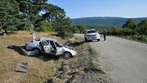 Otomobil takla attı: 1i çocuk 4 yaralı