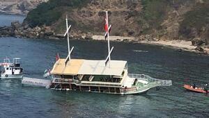 Sinopta, gezi teknesi karaya oturdu