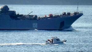 Rus savaş gemisi Caesar Kunikov Çanakkale Boğazından geçti