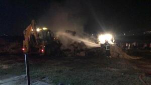 Çiftlikte çıkan yangın korkuttu